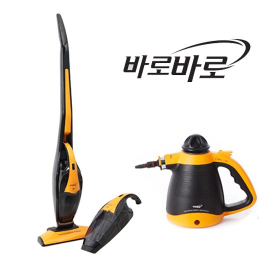 [무궁화전자] 바로바로 3in1 핸드 물걸레 스틱 무선 청소기 MHC-720 + 핸디형스팀청소기 MSC-503