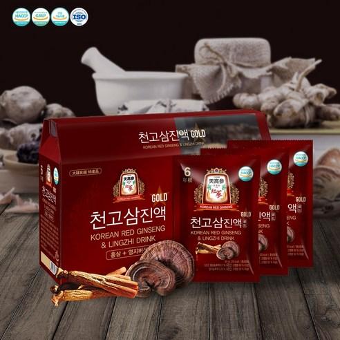 천고삼진액골드 금산 6년근 홍삼 홍삼+영지버섯 (50ml * 30포)